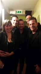 Con Paolo Belli (backstage)